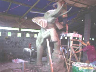 pembuatan model patung gajah