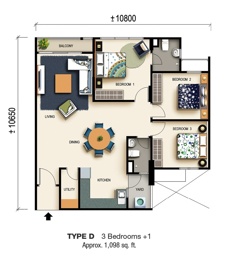 St Anthony Mills Apartments: Avenue Garden @ Pearl City