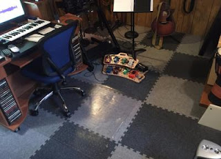 Greatmats Royal Interlocking Carpet Tile basement floor music recording studio