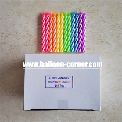 Lilin Spiral Rainbow BOX 144