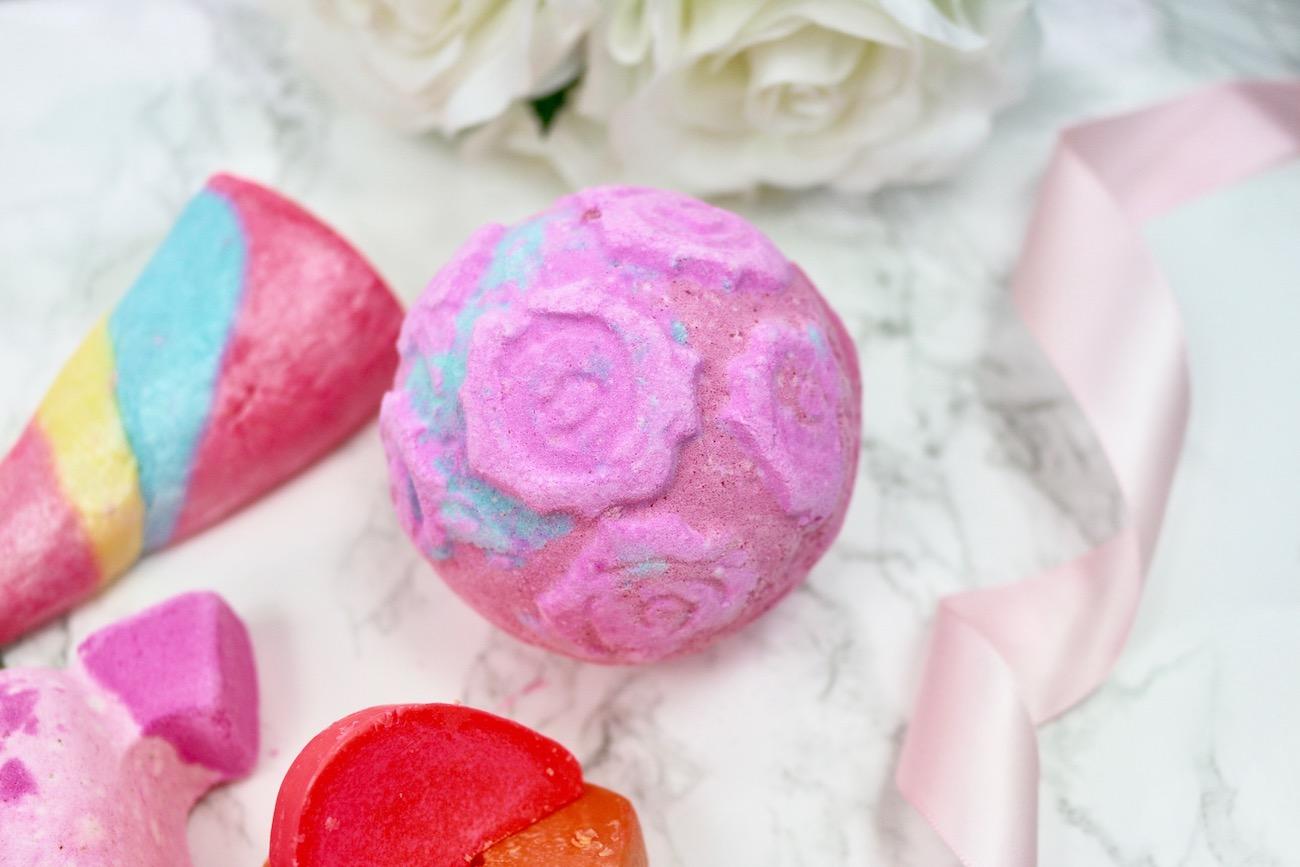 LUSH Valentine's Haul 2017 Rose Bombshell Bath Bomb.