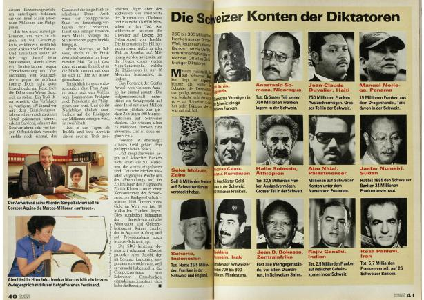 Swiss Magazine Swiss Illustrie exposes Rajiv Gandhi