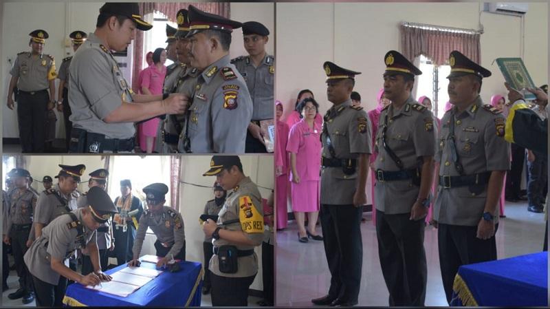 3 Pejabat Polres Sekadau Serah Terima Jabatan