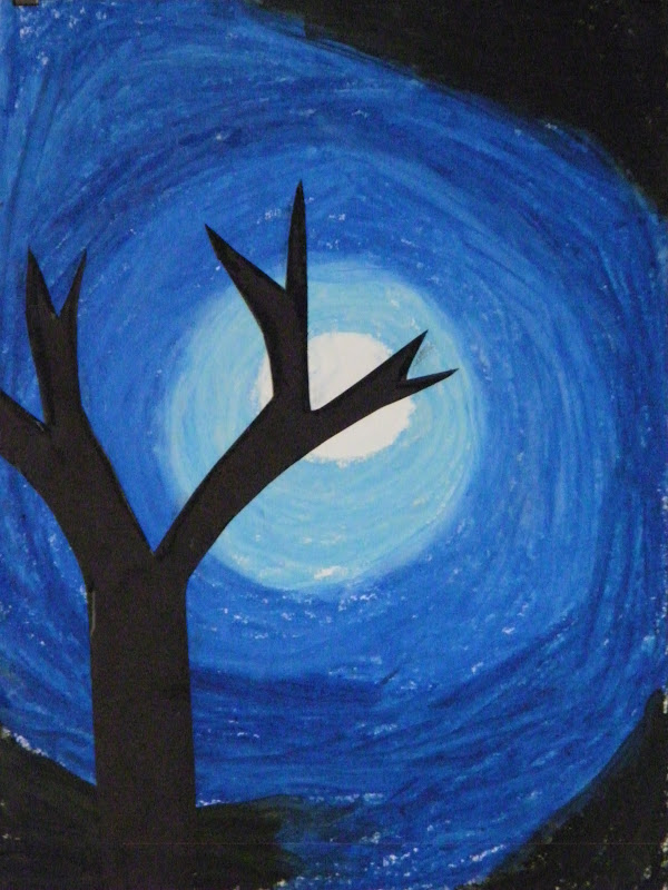 Eclectic Momma Full Moon Art Project
