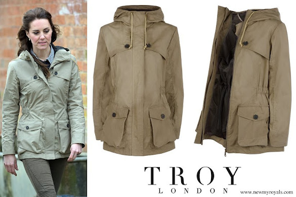 Kate Middleton wore Troy London Wax Parka