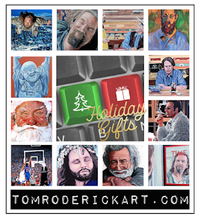 holiday gift promo tom roderick art