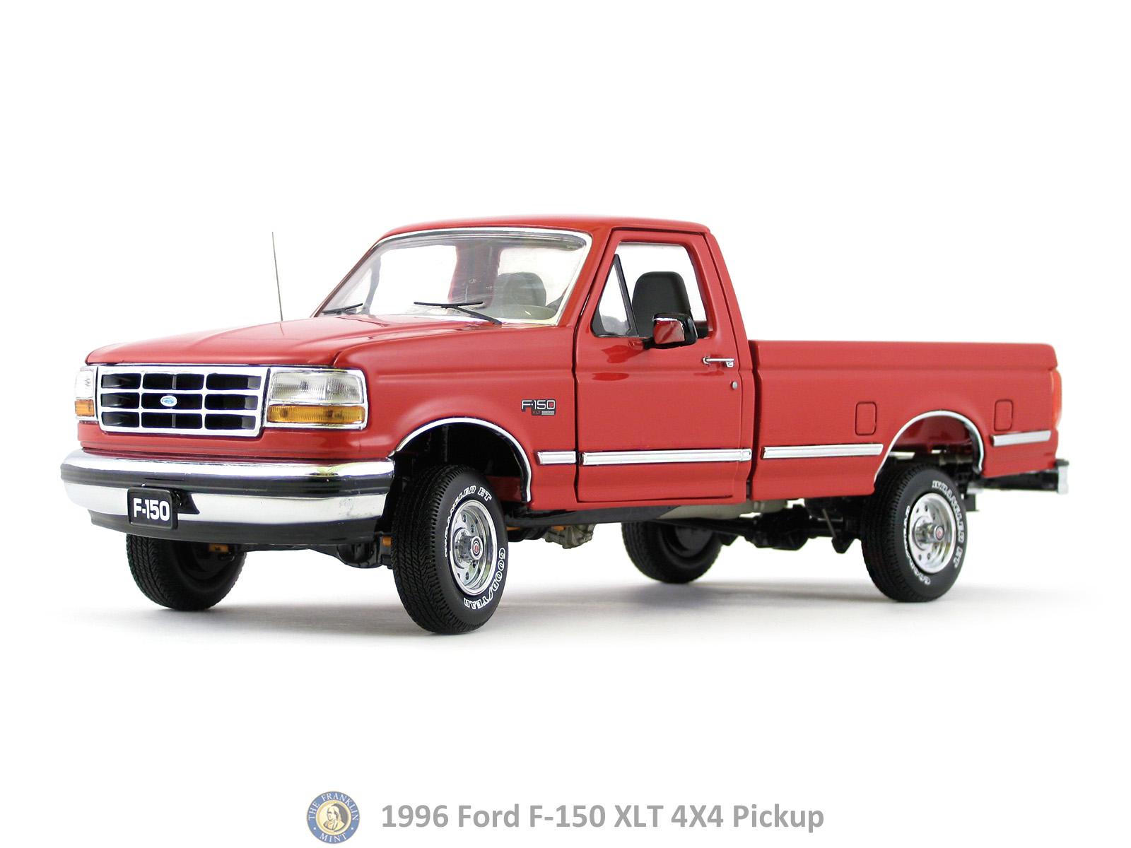 1996 Ford F 150 XLT 4X4 Pickup Franklin Mint