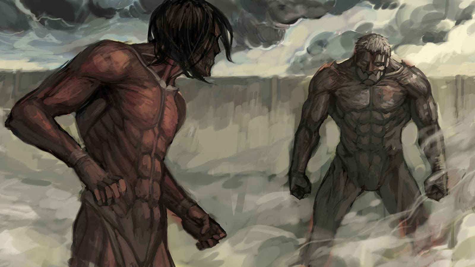 Attack Titan Eren Vs Armored Titan