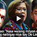 Leila De Lima Received P8 Million Drug Money From Kerwin Espinosa Says Pacquiao. Must Watch!