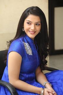 Actress Mehreen Pictures in Blue Dress at Krishna Gadi Veera Prema Gaadha Interview  0015.jpg