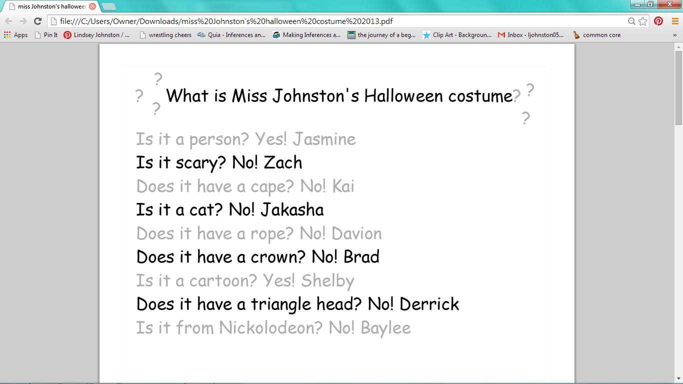 Workbooks making inferences worksheets grade 3 : Halloween Inferencing - Miss Johnston's Journey