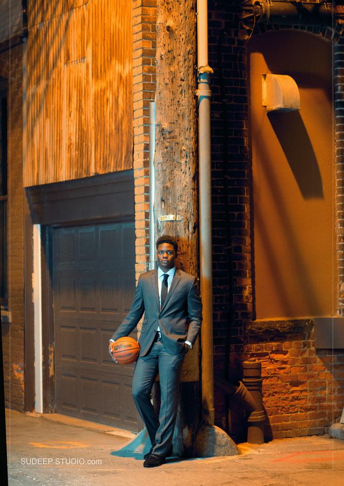 Basketball Sports Theme Senior Picture - Sudeep Studio Ann Arbor Senior Pictures Photographer