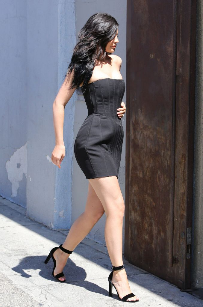 Kylie Jenner Hot in Mini Dress at Maxfield's in West Hollywood