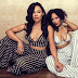 Megan Good poses with her sister