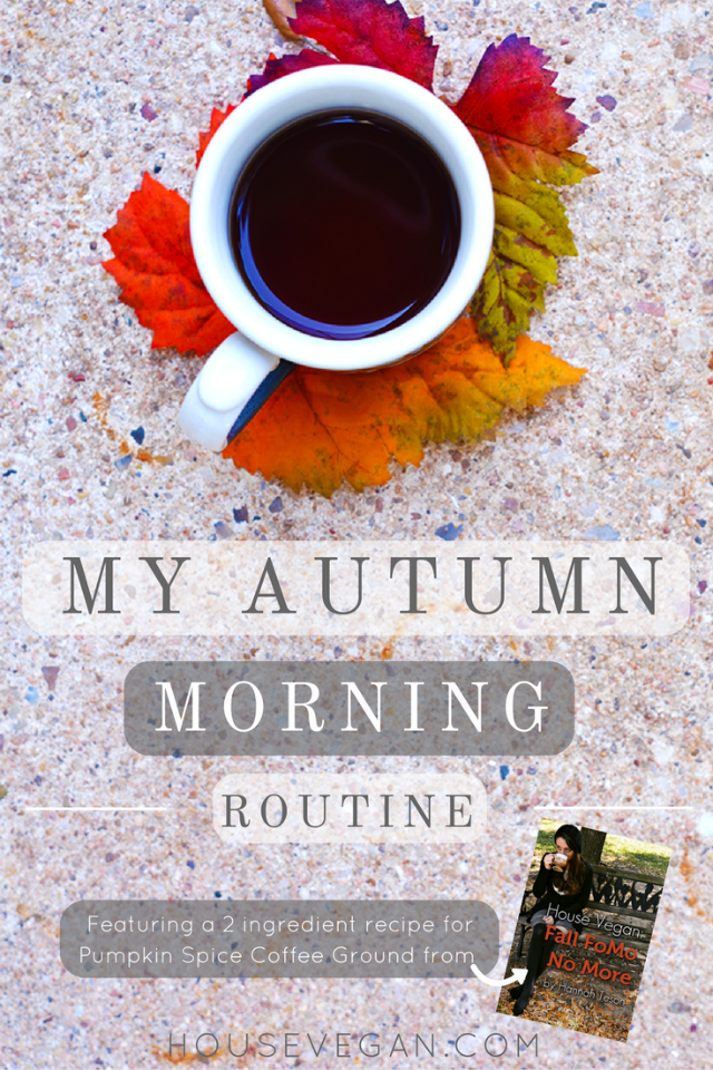 vegan morning routine, vegan fall routine, vegan fall morning routine, vegan autumn routine, vegan autumn morning routine, vegan couple routine, vegan couple, homemade vegan pumpkin coffee ground, homemade vegan pumpkin spice coffee morning, fall fomo, no more fall fomo, vegan fall help, vegan autumn help,