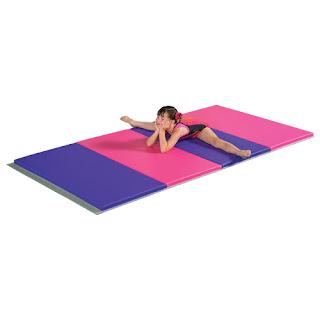 Greatmats pink and purple gymnastics mats budget friendly