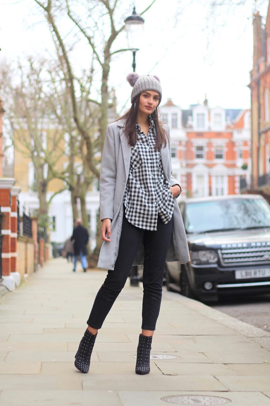 peexo street style blogger london gingham
