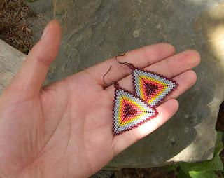 треугольники серьги купить в интернет магазине авторской бижутерии