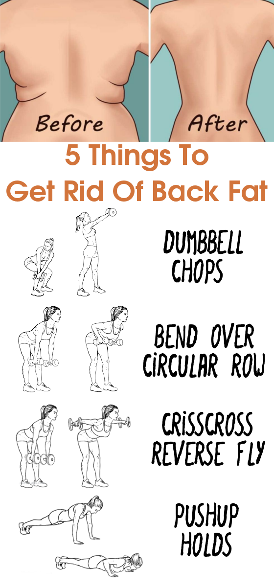 5 things to get rid of back fat a beginner 39 s workout routine for Getting rid of stuff minimalist