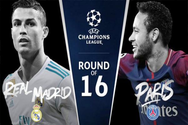 مشاهدة دوري ابطال اوروبا مباراة ريال مدريد وباريس سان جيرمان اليوم 14-2-2018