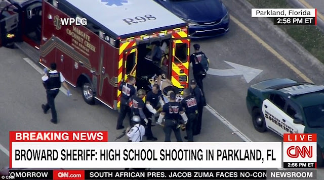 At least 5 dead as 19 year old former student opens fire in a Florida High School (photos)