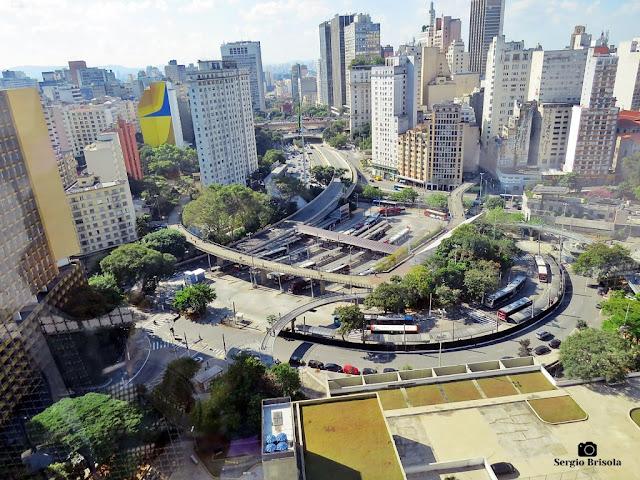 Cityscape com destaque da Praça da Bandeira - Centro - São Paulo