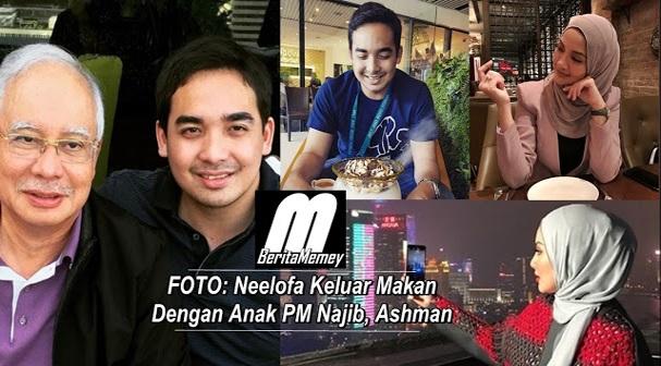 Hati Berbunga: Neelofa Keluar Makan Dengan Anak PM Najib, Ashman.. Sweetnya nampak