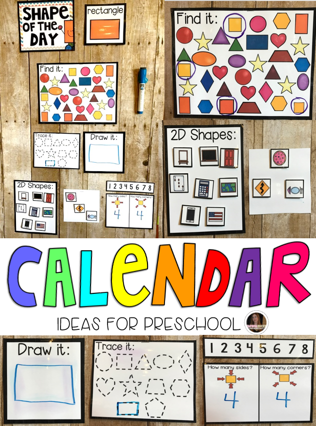 Kindergarten Calendar Work : Setting up your preschool calendar area for success
