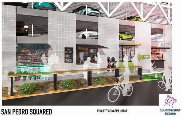 The San Jose Blog New Retail Pads Coming to the San Pedro Garage