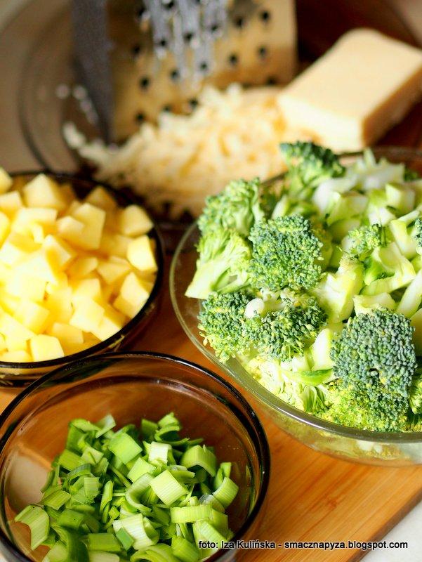zupa brokulowo serowa, brokuly, ziemniaki, por, ser cheddar, domowa zupa, gęsta zupka, zupa jarzynowa
