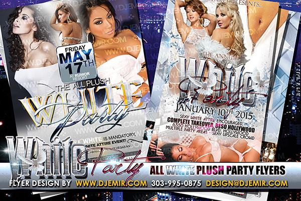 Annual All White Plush Party Flyer Design