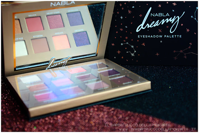 dreamy eyeshadow palette nabla cosmetics ombretti makeuplook triangolo