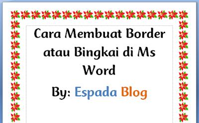 Cara Membuat Border atau Bingkai di MS Word 20