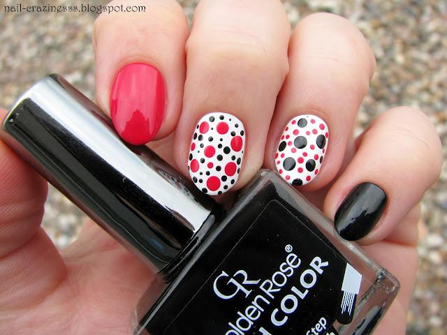 black nail polish, czarny lakier do paznokci