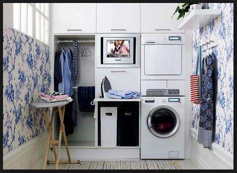 cara dan contoh menata laundry room shabby chic untuk