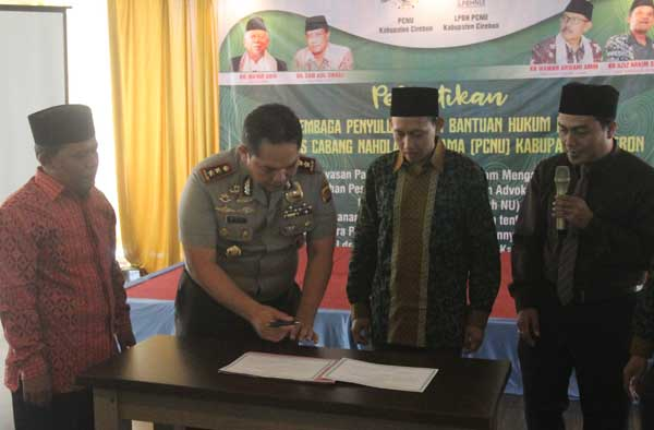 pengurus lbhnu kabupaten cirebon dilantik