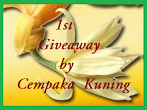@17 july : 1st Giveaway by Cempaka Kuning