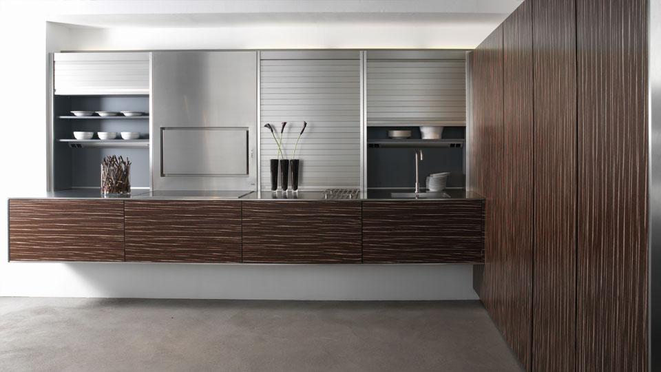 Muebles con persianas de gran capacidad para cocinas - Cocinas con ...