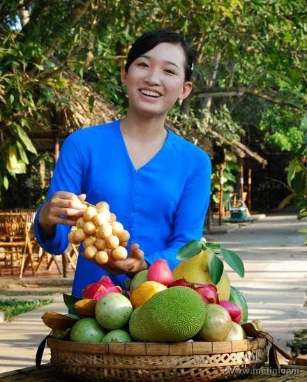 My Tho fruit market, fruit in Mekong Delta, Vietnamese fruit in Mekong Delta