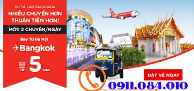 Khuyến mãi đi Thái Lan bay Air Asia giá 5 usd