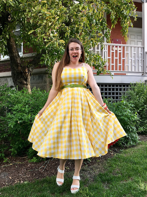 Pretty Dress Company Priscilla yellow gingham review