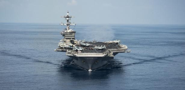 EUA enviam porta-aviões para águas coreanas, Pyongyang reage e aumenta tensão