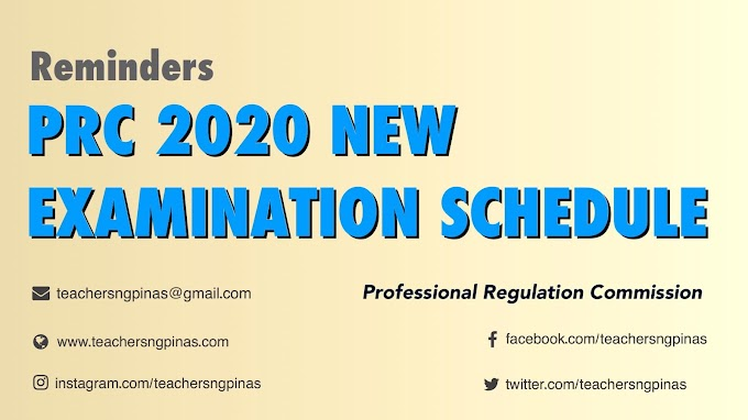 PRC: New Schedule of Postponed March-June 2020 Licensure Examinations - Teacher ng Pinas