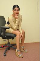 Actress Pooja Roshan Stills in Golden Short Dress at Box Movie Audio Launch  0099.JPG