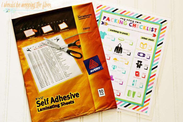 Kids Packing Checklist