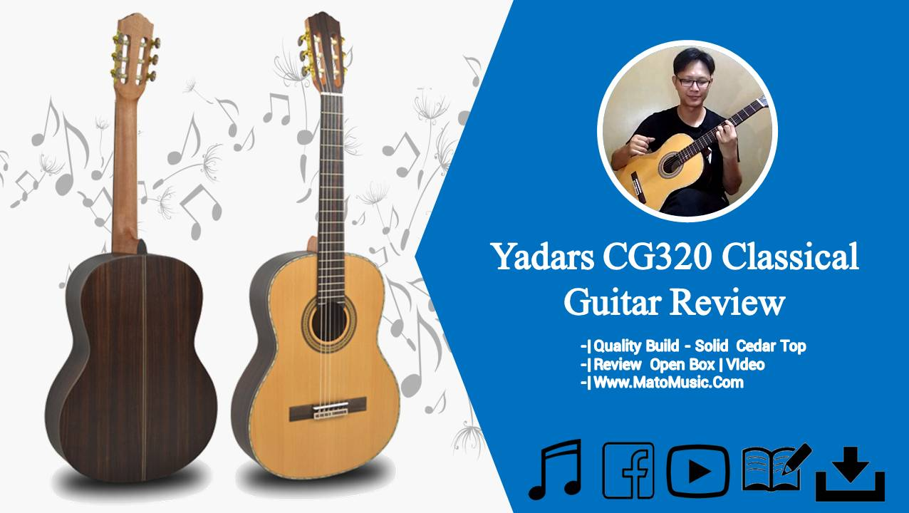 Yadars CG320 Classical Guitar With Solid Ceadar Top Review and Open Box Video thumbnail