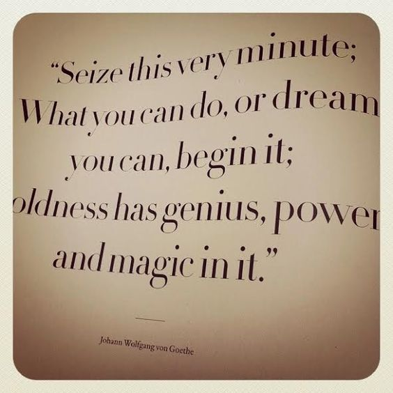 seize this very minute