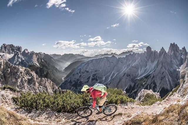 Trail Cianpedele Mountainbike Dolomiten
