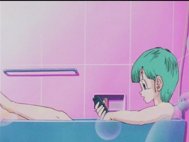 dragon ball z bulma naked in the bathtub