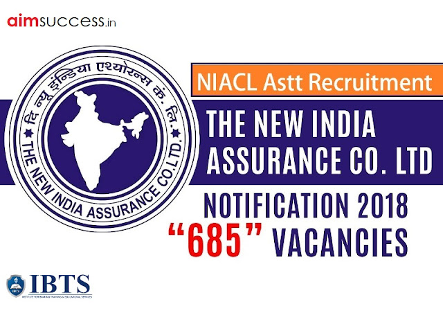 NIACL Assistant Recruitment 2018: 685 Vacancies | Apply Online